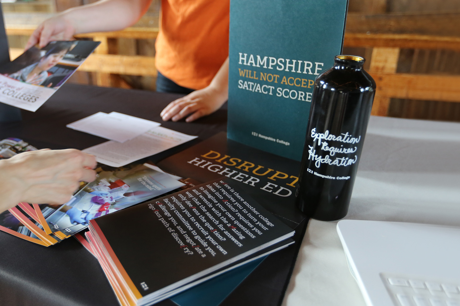Hampshire College Counselor at College Fair